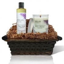 Relaxing Lavender Spa Gift Basket