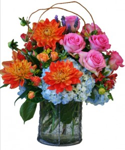 REMARKABLE RAINBOW  Arrangement of Flowers in Riverside, CA | Willow Branch Florist of Riverside