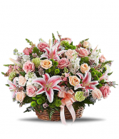 Remember The Times Basket Arrangement