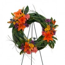 Remembering the Simple Good Times Standing Wreath
