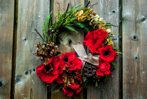 Remembrance Day Wreath Silk Floral Wreath in Corner Brook, NL | The Orchid
