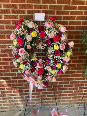 Remembrance Heart STANDING SPRAY in Murphy, NC | Rambling Rose Florist & Gifts
