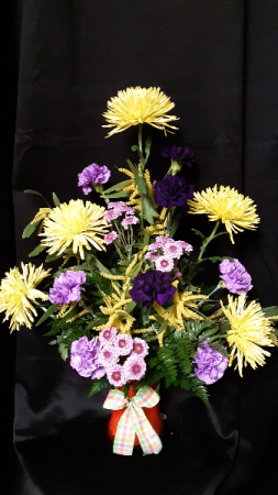 request of favorite colors vase arrangement
