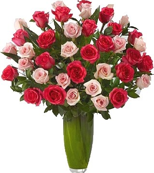 REREMARKABLE 36 MIX ROSES ARRANGEMENT