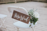 Reserved Sign & Florals Wedding