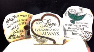 Resin Sympathy Stone   in Fowlerville, MI | ALETA'S FLOWER SHOP