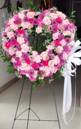 Rest Peacefully  Funeral Heart Wreath
