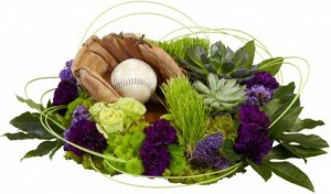 Resting Baseball Funeral Flowers in Port Stanley, ON | FLOWERS BY ROSITA