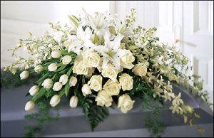 Resurection Casket Spray in Vernon, NJ | HIGHLAND FLOWERS