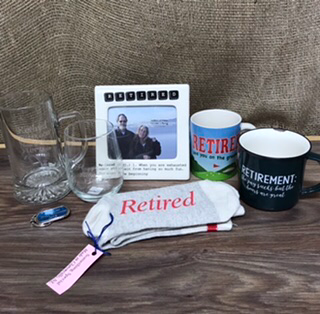 Retirement gift items Items sold separately