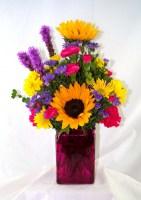 Retro Garden Vase Arrangement