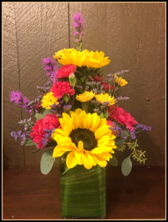 Retro Garden Vase Arrangement