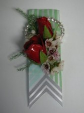 Retro Red Boutonniere Abloom Original
