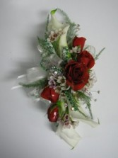Retro Red Wrist Corsage Abloom Original