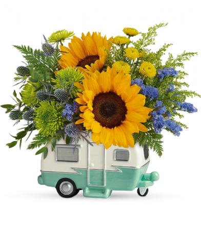 Retro Road Tripper Bouquet All-Around Floral Arrangement