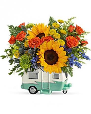 Retro Road Tripper Fresh Floral Arrangement