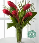 Return to Paradise Bouquet Exotic red ginger