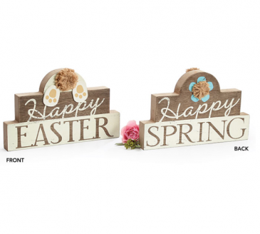 Reversible Easter/Spring Sign Home Decor