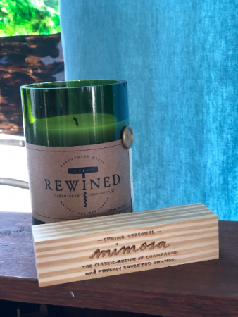 REWINED candle mimosa