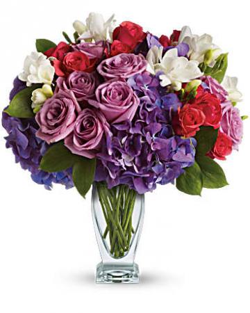 Rhapsody in Purple Vase Arrangement