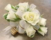 Rhinestone Band w/ Spray Roses & Crystals