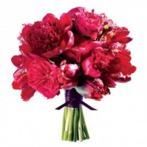 Rich and Vibrant Pink Bridal Bouquet