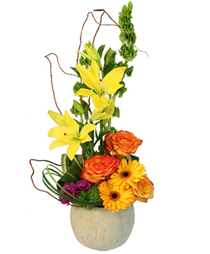Rich & Bold Flower Arrangement in Abernathy, TX | Abell Funeral Homes & Flower Shop
