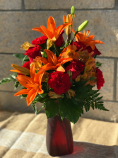 Rich & Vibrant fresh floral arrangment Ready For Delivery