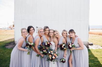 Rich Wine Bridal Bouquets
