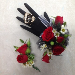 Richly Red Wrist Corsage  in Blaine, WA | BLAINE BOUQUETS