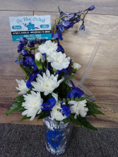 Richmond Blue Devil Tumbler Flowers and tumbler