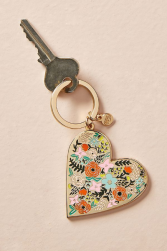 Rifle Paper Floral Heart Enamel Keychain Gifts