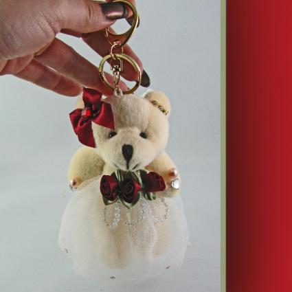 Ring Bear Keychain Crystal Jewelry