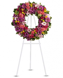 Ring of Love Wreath Standing Spray