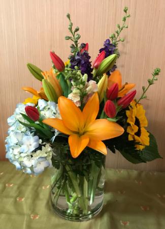 Ring of Spring Vase Arrangement