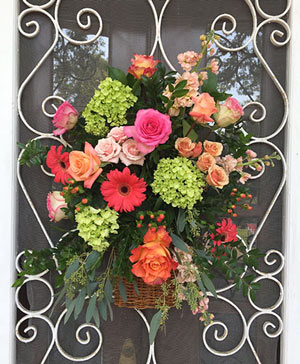 Riot of Color Hanging Arrangement in Ozone Park, NY | Heavenly Florist