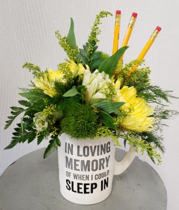 Rise and Shine Coffee Mug of Fresh Flowers