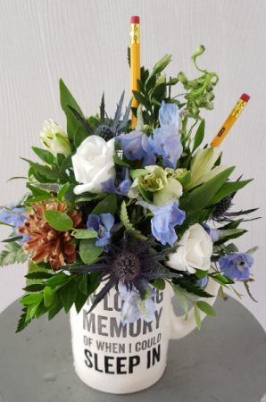 Rise and Shine In Blue  in Port Huron, MI | CHRISTOPHER'S FLOWERS
