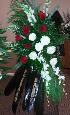 River of Life Standing Spray Sympathy in Canton, GA | Canton Florist