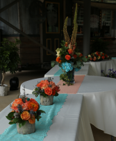 Riverside Reception Reception Decor