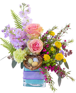 Robin's Blossoms Flower Arrangement in Fairview, OR | QUAD'S GARDEN - Home to Trinette's Floral