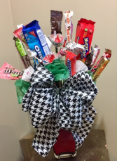 Roll Tide Candy Bouquet Valentine's Day