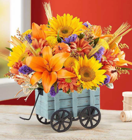 Roma Florist Harvest Hayride™ Flower Arrangement