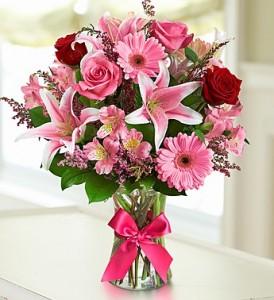 Romance and Love Vase Arrangment