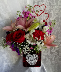 Romance Fresh Arrangement with Roses