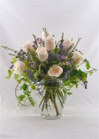 Romance in White Vase Arrangement
