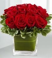 Romance Red Rose Valentine's Day vase