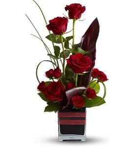Romance Roses - 611 Vase Arrangement