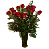Romaneque Love - Red Fresh Arrangement