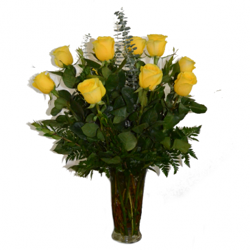 Romaneque Love - Yellow Fresh Arrangement